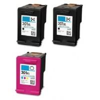 HP 301XL Zwart / HP 301XL Kleur MULTIPACK + Extra Zwart inktcartridge (huismerk)