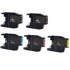 Brother LC-1220 VALBP / LC-1240 VALBP / LC-1280XL VALBP MULTIPACK + Extra Zwart inktcartridge (huismerk)