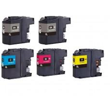 Brother LC-125XL VALBP / LC-127XL VALBP MULTIPACK + Extra Zwart inktcartridge (huismerk)