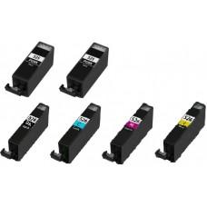 Canon PGI-525 / CLI-526 MULTIPACK + Extra Zwart inktcartridge (huismerk)