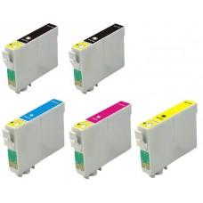 Epson 16XL (T1636) MULTIPACK + Extra Zwart inktcartridge (huismerk)