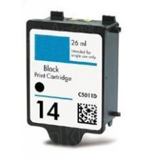 HP 14 (C5011D) Zwart inktcartridge (huismerk)